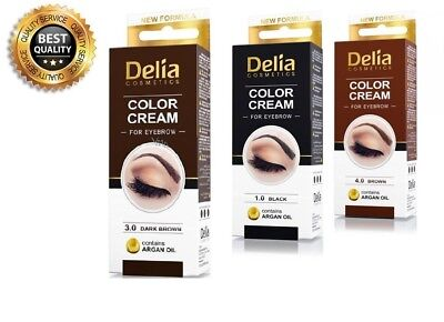 Delia Henna Color Cream Eyebrow Professional Tint Kit Set With Argan