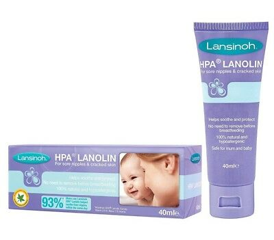 Lansinoh HPA Lanolin Nipple Cream 40ml -  Sore Nipples & Cracked Skin