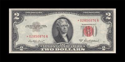 1953-A UNITED STATES NOTE TWO DOLLARS $2 **STAR NOTE** (( aUNC ))