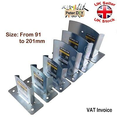 ONE SIDED Bolt Down POST SUPPORT Fence Foot Base Galvanised Heavy Duty 91-201mm