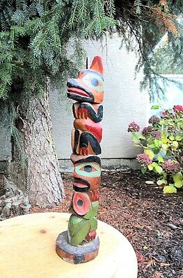 Northwest Coast Vintage Model Totem Pole from the 1950's