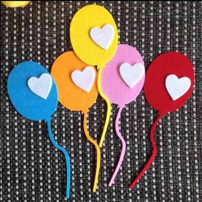 Removable Love Balloon Felt Wall Stickers Decor Lovely Stickers for Kids G