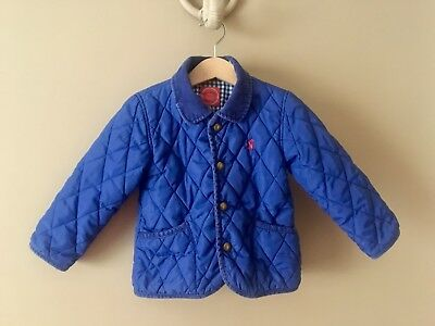 Joules Baby Boys Milford Quilted Lined Coat Jacket In Coat Age 18 - 24 Months