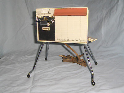 GE Automatic Electric Can Opener Mid Century Atomic Age model # 98EC4B Works