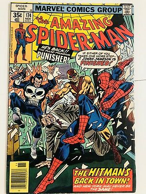 Amazing Spiderman 174 Punisher! Everything starts at 99 cents!