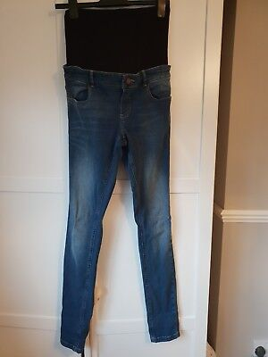 Asos Maternity Bkue Skinny Jeans Over The Bump Size 8 W26 L32