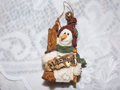 Boyds bears Christmas Wee Folkstone Collection Ornament Olaf Let it Snow Snowman