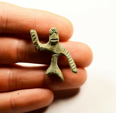 Ancient Celtic Bronze Figure Horse Rider - RARE ARTIFACT