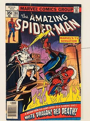Amazing Spiderman 184 White Dragon! Everything starts at 99 cents!