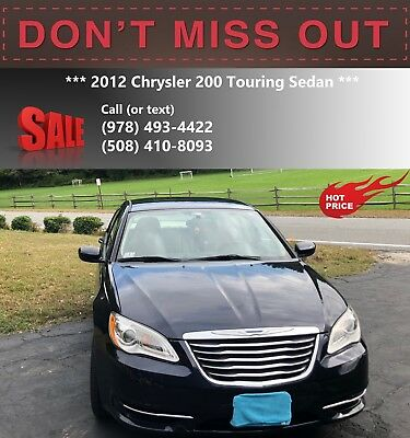 2012 Chrysler 200 Series  2012 Chrysler 200 Touring Sedan