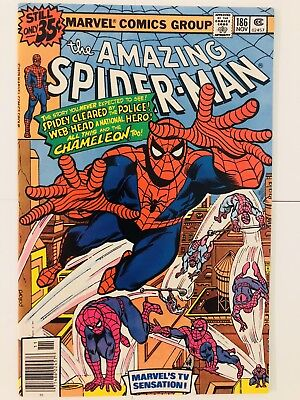 Amazing Spiderman 186 Chameleon Classic Cover! Everything starts at 99 cents!