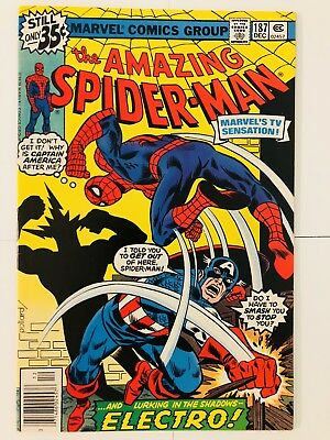 Amazing Spiderman 187 Captain America Electro! Everything starts at 99 cents!