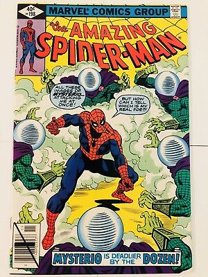 Amazing Spiderman 198 Mysterio! Everything starts at 99 cents!