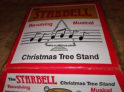 Vintage Starbell Revolving Musical Christmas tree stand 69-RM