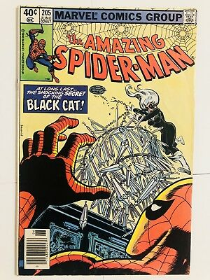 Amazing Spiderman 205 Black Cat! Everything starts at 99 cents!