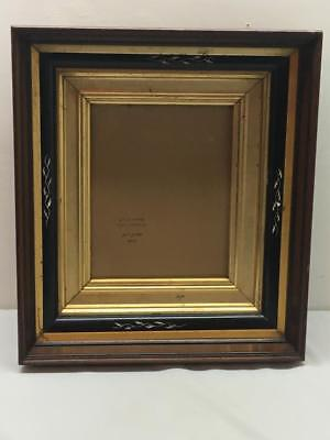 Antique Victorian Deep Eastlake Walnut Shadow Box Picture Frame Wood Back