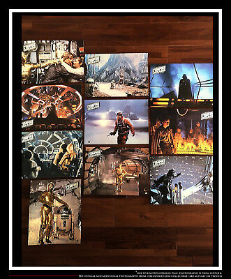 "STAR WARS EMPIRE STRIKES BACK 8"" x 10"" French LOBBY CARD SET Original 1980"