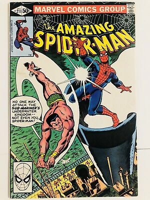Amazing Spiderman 211 Sub-Mariner! Namor! Everything starts at 99 cents!