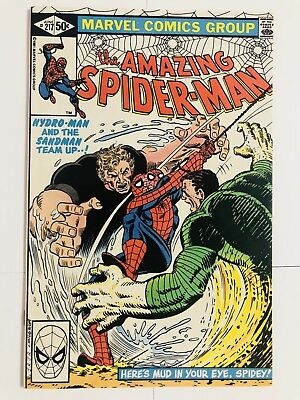Amazing Spiderman 217 Hydro-Man! Sandman! Everything starts at 99 cents!