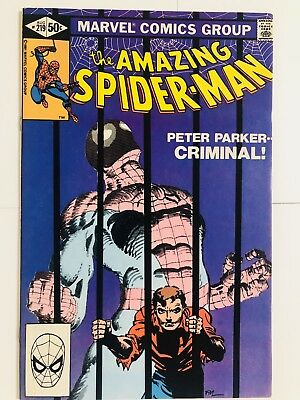Amazing Spiderman 219 Peter Parker: Criminal! Everything starts at 99 cents!