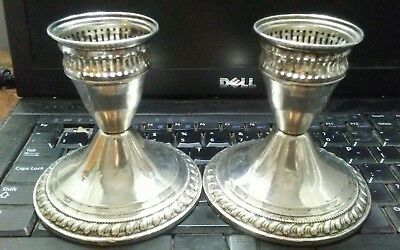Vintage Duchin Sterling Silver Weighted Candle Stick Holders (soild investment)