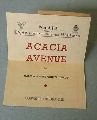 1945 WWII ENSA His Majesty's Forces Acacia Avenue Program Betty Shale British