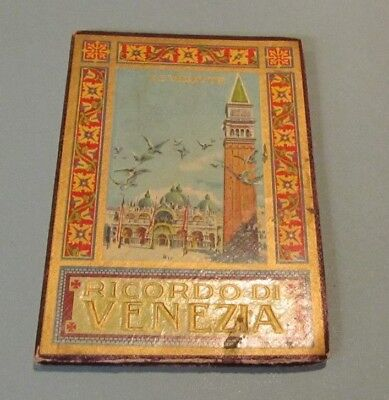 Antique Venice Italy 32 View Foldout Photo Book Includes 4 Panel Panoramic View