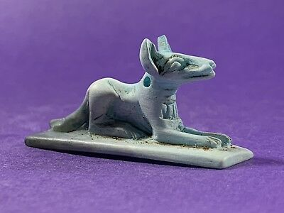 Stunning Colours -Circa 1500-332Bc - Ancient Egyptian Stone Laying Anubis Amulet