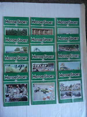 MOTOR  SPORT. Magazine. 1966 - Full Year.  12 ISSUES. Nice condition.