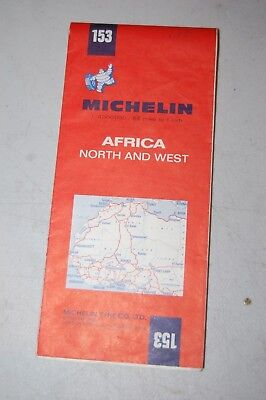 Michelin Vtg Road Map 153 Africa North & West 1969 5Th Ed.