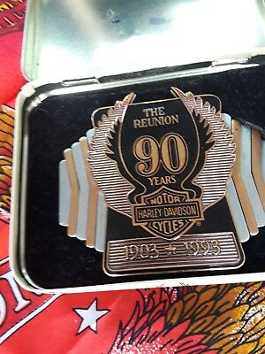 Rare HARLEY DAVIDSON  90th anniversary Belt buckle THE REUNION With case