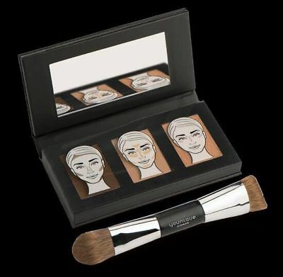 Younique Sculpting Trio Set-Light-Med-Dark-1/2 Off Contour Brush With Purchase
