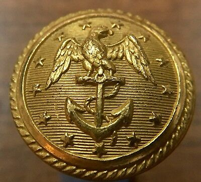 Navy - 2-pc. Button - P. & S. Firmin - 1840s - 23mm Size - Pre-Civil War