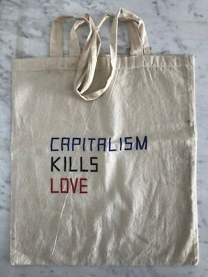 Claire Fontaine - CAPITALISM KILLS LOVE - Tote Bag  - Art Fashion