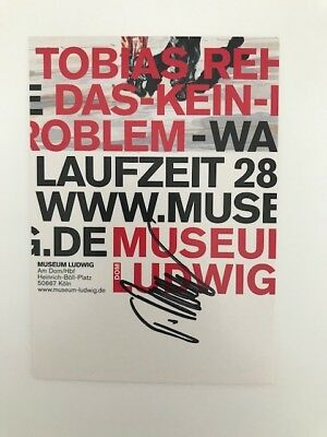 Tobias Rehberger -  announcement card signed  -  Museum Ludwig