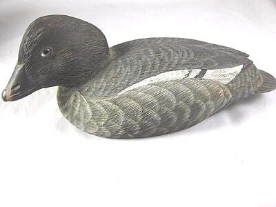 Vintage Wood Hand Carved And Painted Gregg Ewell  Duck Decoy
