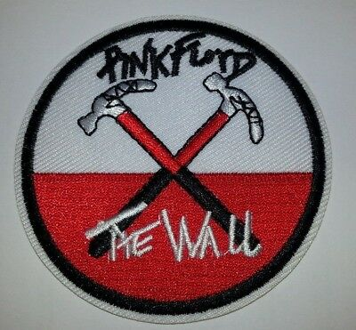 """Pink Floyd~The Wall~""""Hammers""""~Embroidered Patch~3"""" Round~Iron Sew On~Ships FREE"""