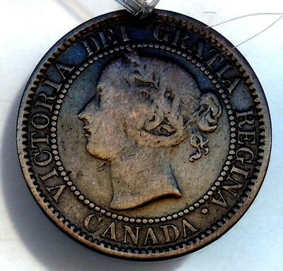 1859 Canada Large Cent Good Date Free S/h U.s.