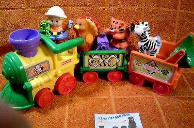 Little People Safarizug Fisher Price Musikzug Zoo Tiere Melodiezug Zug Baby