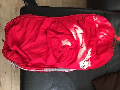 Maclaren Techno XT Footmuff - Red & Silver - Good Condition