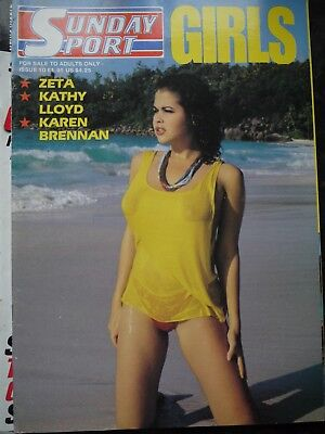 Vintage Glamour UK magazine sunday sport girls No.10 - Zeta