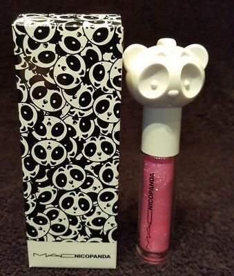 "MAC cosmetics NICOPANDA "" PANDA KISS "" LIPGLASS sold out BNIB LIMITED EDITION"