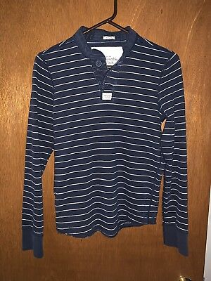 Lot Of 3 Mens Small Abercrombie & Fitch Long Sleeve Shirts