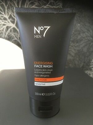 No7 men energising face wash 150ml - new and sealed