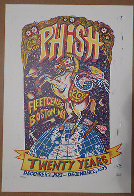 PHISH JIM POLLOCK POSTER 20th Anniversary Boston, MA 12/2/2003 S/N Sold Out