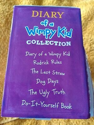 Jeff Kinney Diary of a Wimpy Kid Collection 5 Books Plus Do-It-Yourself Book BN