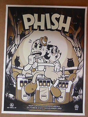 PHISH Poster MGM Las Vegas Ivan Minsloff Betty Boop L/E Print Sold out Pollock