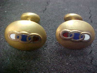VINTAGE GOLD FILLED Independent Order of Odd Fellows Cufflinks IOOF