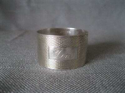 Serviettenring, 925 Sterling Silber, England, Makers Mark H Bros, datiert 1975