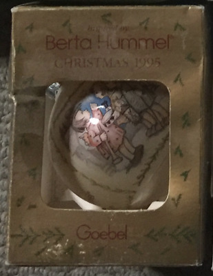 Vintage Collectible Christmas Tree Ball  Inspired by Berta Hummel Goebel 1995
